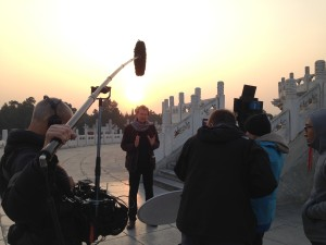 Filming in Temple of Heaven